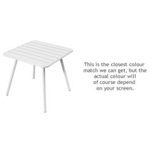 Luxembourg Square Table with 4 legs - Cotton White