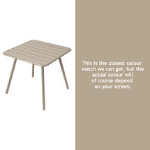 Luxembourg Square Table with 4 legs - Nutmeg
