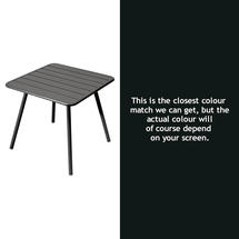 Luxembourg Square Table with 4 legs - Liquorice