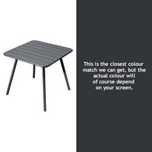 Luxembourg Square Table with 4 legs - Anthracite