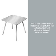 Luxembourg Square Table with 4 legs - Steel Grey