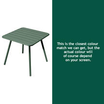 Luxembourg Square Table with 4 legs - Cedar Green