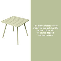 Luxembourg Square Table with 4 legs - Willow Green