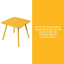 Luxembourg Square Table with 4 legs - Honey