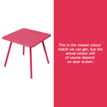 Luxembourg Square Table with 4 legs - Pink Praline