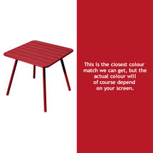 Luxembourg Square Table with 4 legs - Poppy