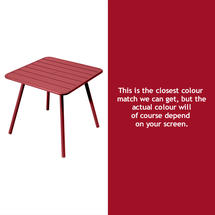 Luxembourg Square Table with 4 legs - Chilli