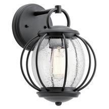 Vandalia 1lt Wall Lantern - Textured Black