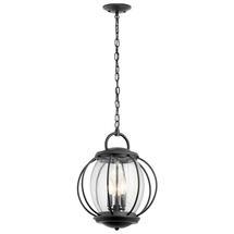 Vandalia 3lt Chain Lantern Textured Black- Large