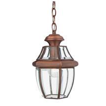 Newbury Medium Hanging Lantern - Aged Copper