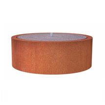 Round Water Pool 145 x 40cm - Corten Steel