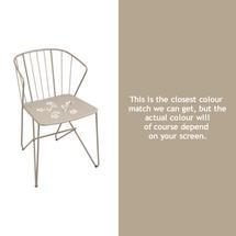 Flower Armchair with pattern - Nutmeg