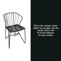 Flower Armchair with pattern - Liquorice