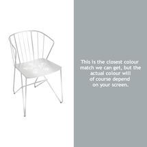Flower Armchair with pattern - Steel Grey