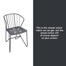 Flower Armchair with pattern - Anthracite