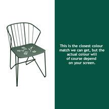 Flower Armchair with pattern - Cedar Green