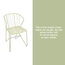 Flower Armchair with pattern - Willow Green
