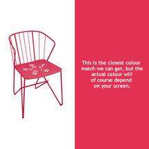 Flower Armchair with pattern - Pink Praline