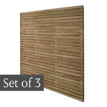 Starter Pack Double Slatted Panels - Set of 3