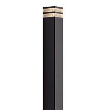 Elm Garden Pillar Light - Black