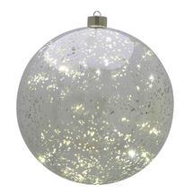 Large Silver Hanging LED Bauble