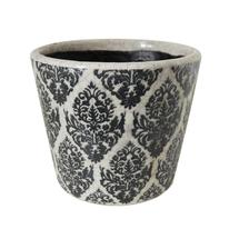 Vintage Pattened Plant Pot - Damask