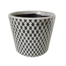 Vintage Pattened Plant Pot - Trellis