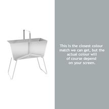 Tall Basket Planter - Steel Grey