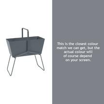 Tall Basket Planter - Storm Grey