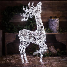 1M Standing Deer with 160 White LEDs