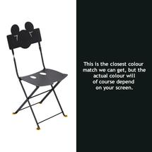 Mickey Mouse Childs Bistro Chair - Liquorice