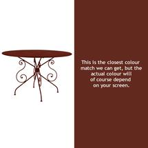 1900 Table 117cm - Red Ochre