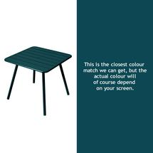Luxembourg Square Table with 4 legs - Acapulco Blue