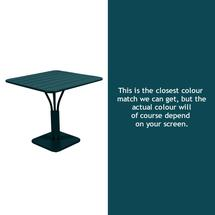 Luxembourg Square Table - Acapulco Blue