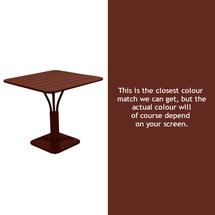 Luxembourg Square Table - Red Ochre