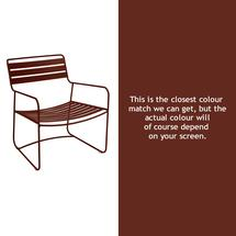 Surprising Low Armchair - Red Ochre
