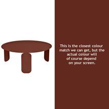 Bebop 80cm Low Table - Red Ochre