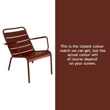 Luxembourg Low Armchair - Red Ochre
