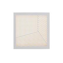 Maze Square Straight Lines Light - White