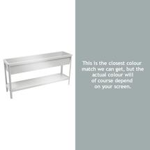 Medium Terrazza Planter - Steel Grey
