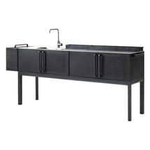 Drop Outdoor Kitchen Module with Tap and Sink - Lava Grey