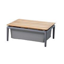 Conic Box Table - 74x52cm - Light Grey