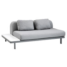 Space Light Grey 2 Seater Module with Hi-Core Table - Right