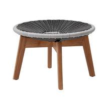 Peacock Footstool - Grey / Light Grey
