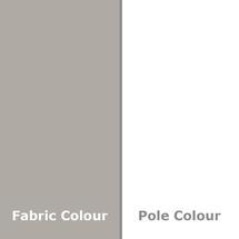 Easy Track Parasol 250cm sq - Pebble/White Pole