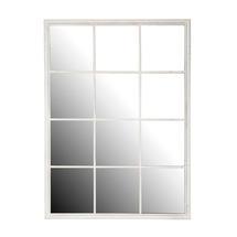 White Squared Outdoor Mirror