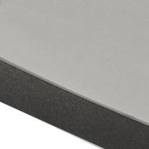 Drop Cafe 60cm Table - Ceramic Light Grey /Lava Grey Edge