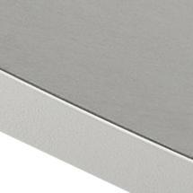 Drop Cafe 60cm Table - Ceramic Light Grey/White Edge