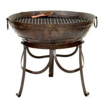 Kadai 70cm Firebowl Set with High and Low Stand