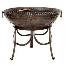 Kadai 80cm Firebowl Set with High and Low Stand